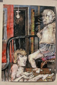 Couple,1992, MixedMediaonPaper, 87x56cm, Collection of the Art Gallery of WA