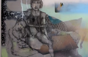 Drawing, Sicilian Boys, 2007, Mixed Media on Board 56x82cm Private Collection