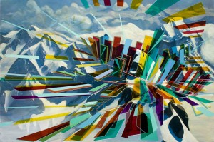 Alpine Architecture, 2013, oil on linen, 180x120cm