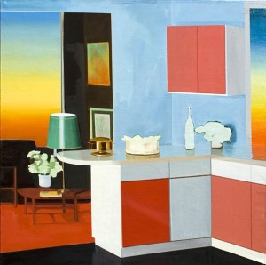 Sunset Room, 2014, David Ledger, oil on linen, 101cm x 101cm