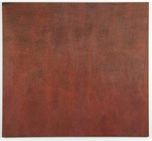 mookaite, 2006,  acrylic, found pigment, oil on canvas, 282x198 cms, Private Collection